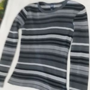Ribbed Stripey GAP Long-Sleeved Top